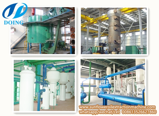 Sunflower oil solvent extraction plant