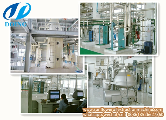 30-1000TPD full-continuous sunflower oil refinery plant