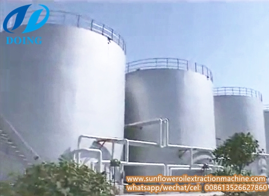 Large sunflower oil processing plant, turn-key project sunflower oil factory