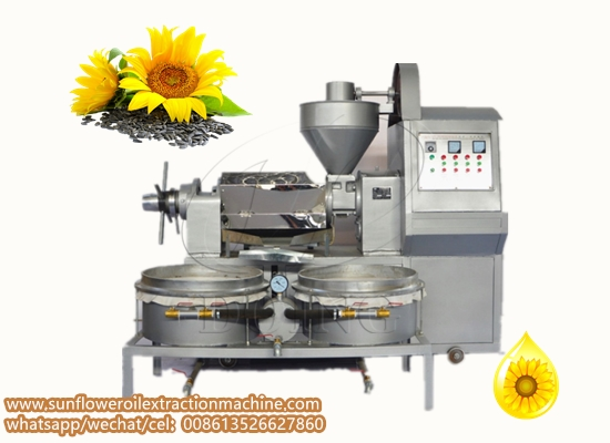 Integrated sunflower seed oil press machine with vacuum filter running video