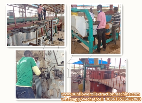 50TPD sunflower oil processing plant project report in Tanzania