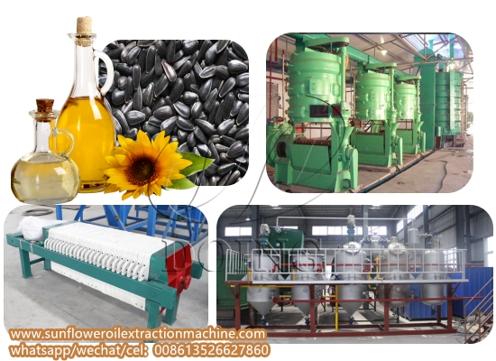 Small scale sunflower seed oil processing plant