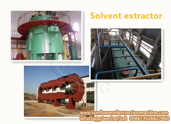 Solvent extractor for sunflower oil extraction plant
