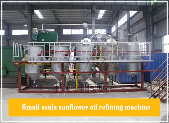 Is there small scale sunflower oil refining machine? How does it work?
