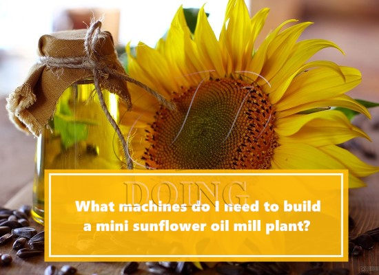 What machines do I need to build a mini sunflower oil mill plant?