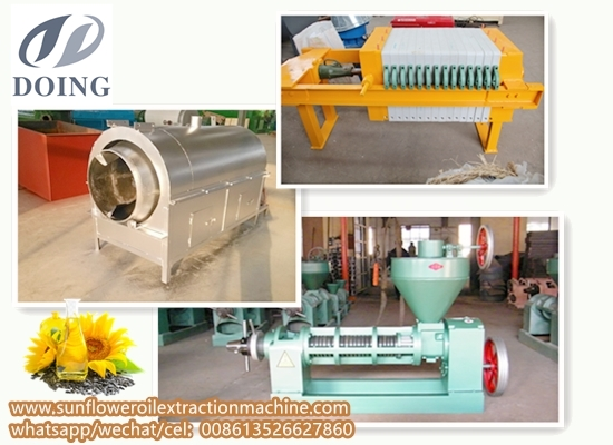 Small scale sunflower seeds oil pressing plant