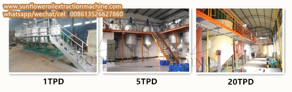 batch type sunflower oil refinery plant