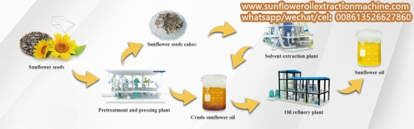 sunflower oil making process flow chart